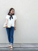 eri  yoshidaさんの「JEAN ETROIT COURT /DENIM STRETCH LEGER(A.P.C.|アー・ペー・セー)」を使ったコーディネート