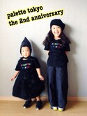 riccarinさんの「2nd Anniversary TEE for KIDS(BLACK)(Palette TOKYO|パレットトーキョー)」を使ったコーディネート