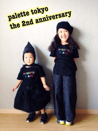 riccarinさんの「2nd Anniversary TEE for KIDS(BLACK)(Palette TOKYO|パレットトーキョー)」を使ったコーディネート