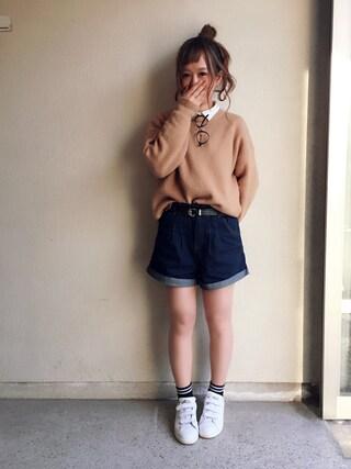 haru ◎さんの「ベルト付ショートパンツ2(jouetie|ジュエティ)」を使ったコーディネート