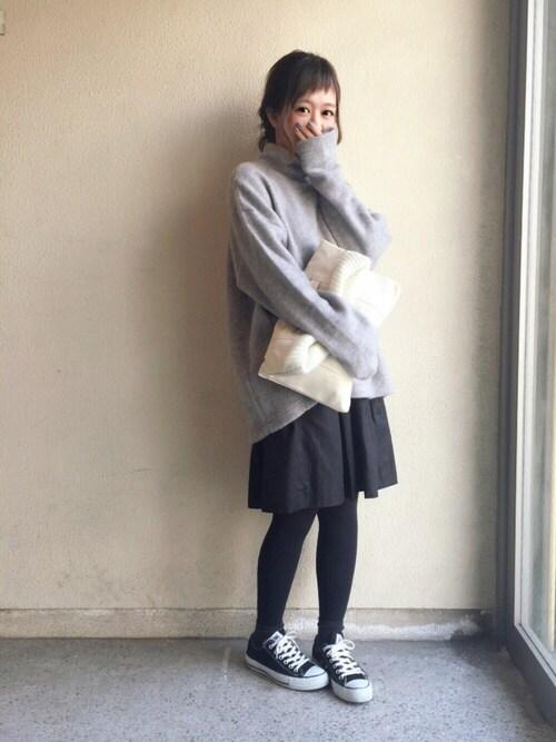 haru ◎さんの「KBF ワイドハイネックカットソー(S)(KBF)」を使ったコーディネート