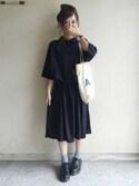 haru ◎さんの「【PLAIN CLOTHING】シャツロングワンピース(PLAIN CLOTHING|プレーンクロージング)」を使ったコーディネート