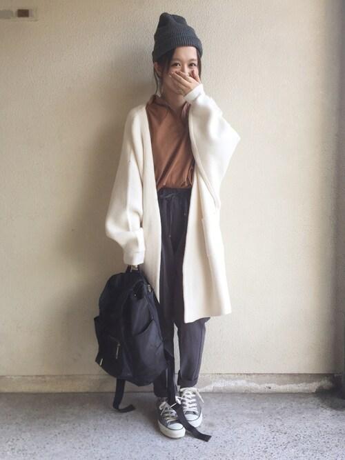 haru ◎さんの「7Gボリュームコーディガン/729764(JEANASIS)」を使ったコーディネート