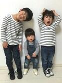 tⅲ♥︎brothersさんの「【KIDS雑貨】コンバース FS ALL STAR 2 スニーカー(CONVERSE|コンバース)」を使ったコーディネート