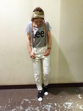 ライトオン|Right-on 店舗スタッフさんの「【LEE】ロゴTシャツ(Lee)」を使ったコーディネート