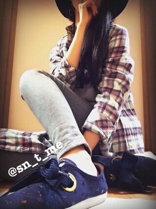 「レトロリボン中折れハット(EGOIST)」 using this ♡スニ女♡ looks