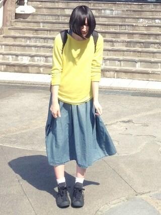 鈴川絢子さんの「[ケルティー]KELTY D PACK 70S VINTAGEバッグ(green label relaxing|グリーンレーベルリラクシング)」を使ったコーディネート