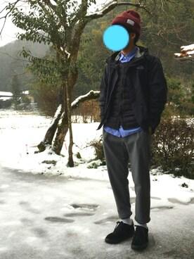 ykk│THE NORTH FACEのナイロンジャケットコーディネート