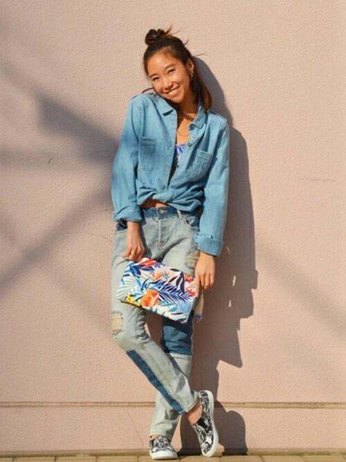 ROXY GIRLS SNAP|ulalagirlさんのシャツ/ブラウス「CAMERA OBSCURA(ROXY|ロキシー)」を使ったコーディネート