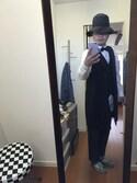 Koro  Komatsuさんの「◆シャイニーヘリンボンドレスベスト(TAKEO KIKUCHI|タケオキクチ)」を使ったコーディネート