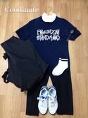 折原 駿さんの「【wjk】POLO Shirts(wjk 1 mile|ダブルジェイケイワンマイル)」を使ったコーディネート