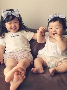 RIKOさんの(gelato pique Baby&Kids|ジェラートピケ ベイビーアンドキッズ)を使ったコーディネート