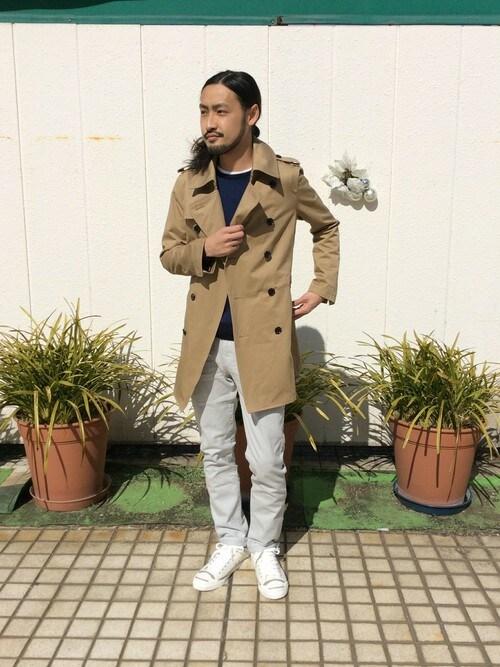 MORGAN HOMME渋谷 | 文太さんのトレンチコート「MORGAN HOMME トレンチコート」を使ったコーディネート