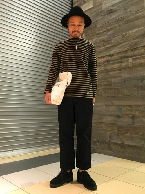オーシバルバスクシャツ×トラッドカジュアル 画像1