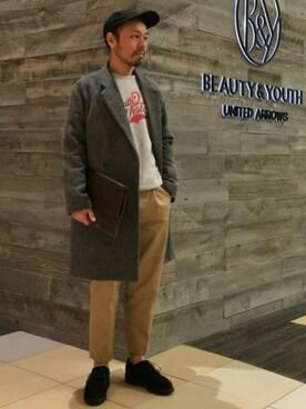 ビューティ&ユース ユナイテッドアローズ 西宮店|Yuta Okazakiさんの「BY ロゴ キャップ(BEAUTY&YOUTH UNITED ARROWS)」を使ったコーディネート