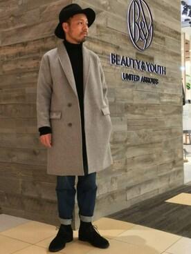 ビューティ&ユース ユナイテッドアローズ 西宮店|Yuta Okazakiさんの「BY ∴ フェルト ブリムハット(BEAUTY&YOUTH UNITED ARROWS)」を使ったコーディネート