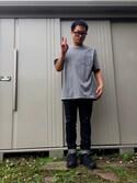 kiyonoriさんの「G10プレミアムリジットデニム テーパード       FACTOTUM/ファクトタム(FACTOTUM|ファクトタム)」を使ったコーディネート