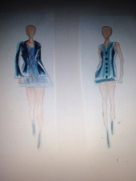 (fashion sketches) using this DiDi looks