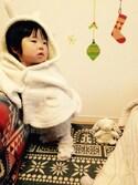Riko.Iさんの「moco moco'パウダー'kidsパイピングブランケット(gelato pique Baby&Kids|ジェラートピケ ベイビーアンドキッズ)」を使ったコーディネート