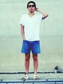 「Ralph Lauren Little Girls' Denim Weekender Shorts(Ralph Lauren)」 using this sei2 looks