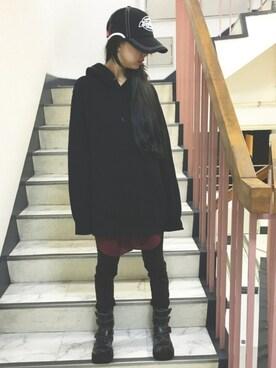 魔法少女元帥さんの「WOMEN モダールスウェットプルパーカ(長袖)(ユニクロ)」を使ったコーディネート