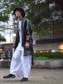 「IKUMI Paint Print Wide-leg Pants(IKUMI)」 using this Takumi Yanagisawa looks