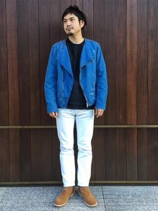 UNITED ARROWS|Shinsaku Masudaさんの「UNITED ARROWS & SONS(ユナイテッドアローズ&サンズ) DENIM RIDERS(UNITED ARROWS & SONS|ユナイテッドアローズ アンド サンズ)」を使ったコーディネート