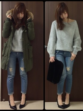nana♡さんの「【ViVi12月号掲載】15AW N3-B LONG(SLY)」を使ったコーディネート