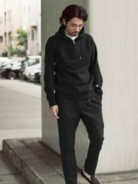 アーバンリサーチ DOORS 茶屋町店|hanadaさんのパーカー「Champion×Mt Design 3776 RW SWEAT PARKA(URBAN RESEARCH DOORS MENS|アーバンリサーチ ドアーズ メンズ)」を使ったコーディネート