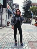 Noriko Kikuchiさんの「PACKABLE HOLIDAY MINI BAG パッカブルホリデイミニバッグ(HOLIDAY|ホリデイ)」を使ったコーディネート