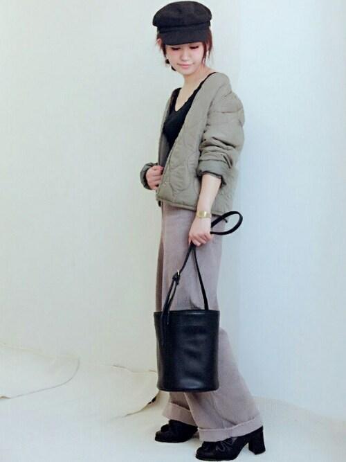 yoshimiさんの「【予約】巾着型バケツショルダー(archives)」を使ったコーディネート