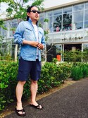 「boys French Terry Colorblock Shorts (Kids)(Forever 21)」 using this MakotoTakeuchi looks
