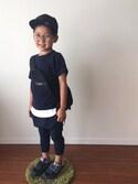 マディさんの「New Era Kids' New York Yankees MLB Black on Black Fashion 59FIFTY Cap(New Era|ニューエラ)」を使ったコーディネート