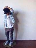 「New Era Kids' New York Yankees MLB Black on Black Fashion 59FIFTY Cap(New Era)」 using this マディ looks