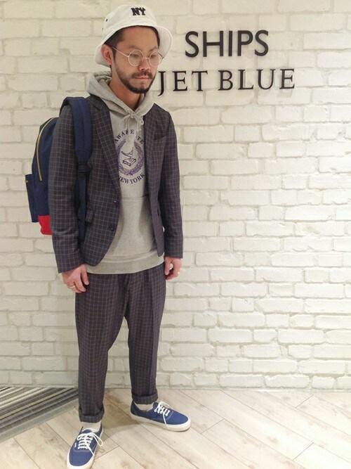 西川さんの「JB: TR ウインドウペン ジャケット 14SS(SHIPS JET BLUE)」を使ったコーディネート