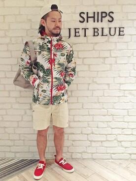 SHIPS JET BLUE ルミネエスト新宿店|西川さんの「INFIELDER DESIGN: NYC エコバッグ(SHIPS JET BLUE)」を使ったコーディネート