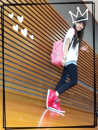飯窪春菜さんの「adidas TOP TEN HI SLEEK BOW(adidas アディダス)」を使ったコーディネート