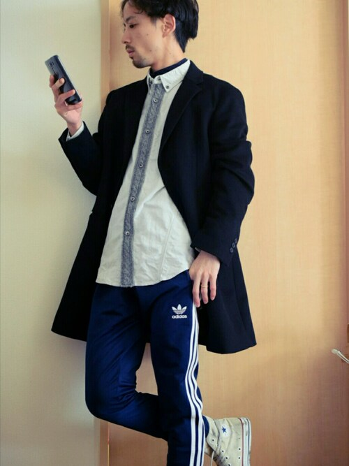 KATSURAさんの「Knit Tape Oxford Shirt ニット テープ オックスフォード シャツ(JAMA RICO)」を使ったコーディネート