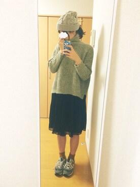 shiho*さんの「裏編ニットスクエアセーター(ZARA)」を使ったコーディネート