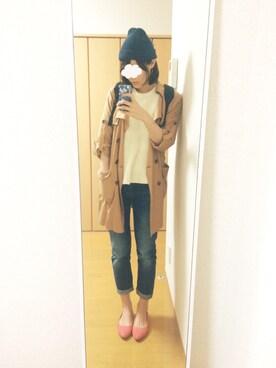 shiho*さんの「ボーイフレンドデニムパンツ(ZARA)」を使ったコーディネート