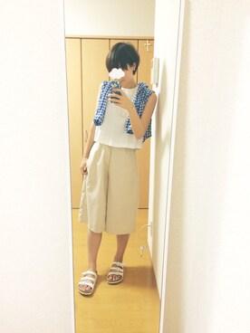 shiho*さんの「ガウチョパンツ(RANDA)」を使ったコーディネート