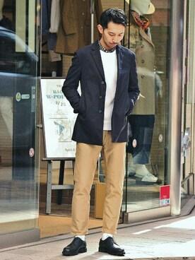 EDIFICE新宿店|JUN ITOHさんの「◇TOPギンガムチェックボタンダウンシャツ(EDIFICE)」を使ったコーディネート
