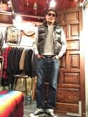 matsuuraさんの「CONVERSE コンバース SUEDE ALL STAR J OX(LTD) スエードオールスターJ OX(LTD) 32158301 BLACK(CONVERSE|コンバース)」を使ったコーディネート