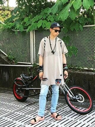 「SHIRRING DENIM PANTS(PHENOMENON)」 using this 清晴  looks