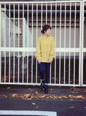 「Cheap Monday Tractor High Booties(Cheap Monday)」 using this yui looks
