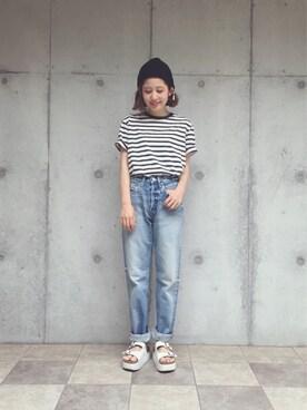 yuiさんの「MV wide Straight(MOUSSY)」を使ったコーディネート