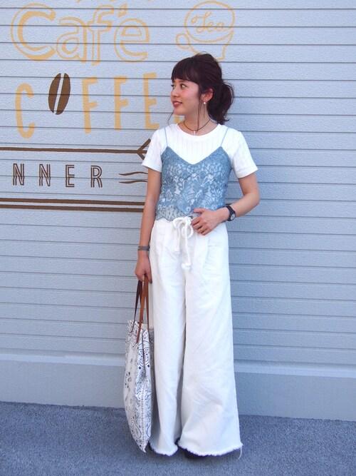 yuiさんの「DOORS 針抜きフライス半袖Tシャツ(URBAN RESEARCH DOORS WOMENS)」を使ったコーディネート
