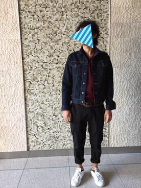やめこふさんの「MEN デニムジャケット(ユニクロ)」を使ったコーディネート