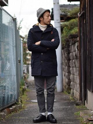 comoda|comoda上西猛夫さんの(Re made in tokyo japan|アールイーメイドイントウキョウジャパン)を使ったコーディネート