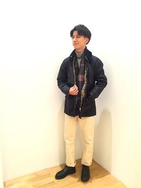 Bshop 西宮ガーデンズ店 Tanakaさんの「【Morris & Sons】ジーロンラムタートルネックセーター MEN(Morris & Sons)」を使ったコーディネート